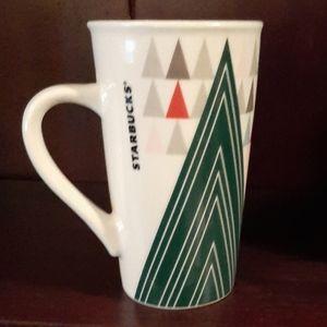 Starbucks Green Christmas tree holiday mug cup